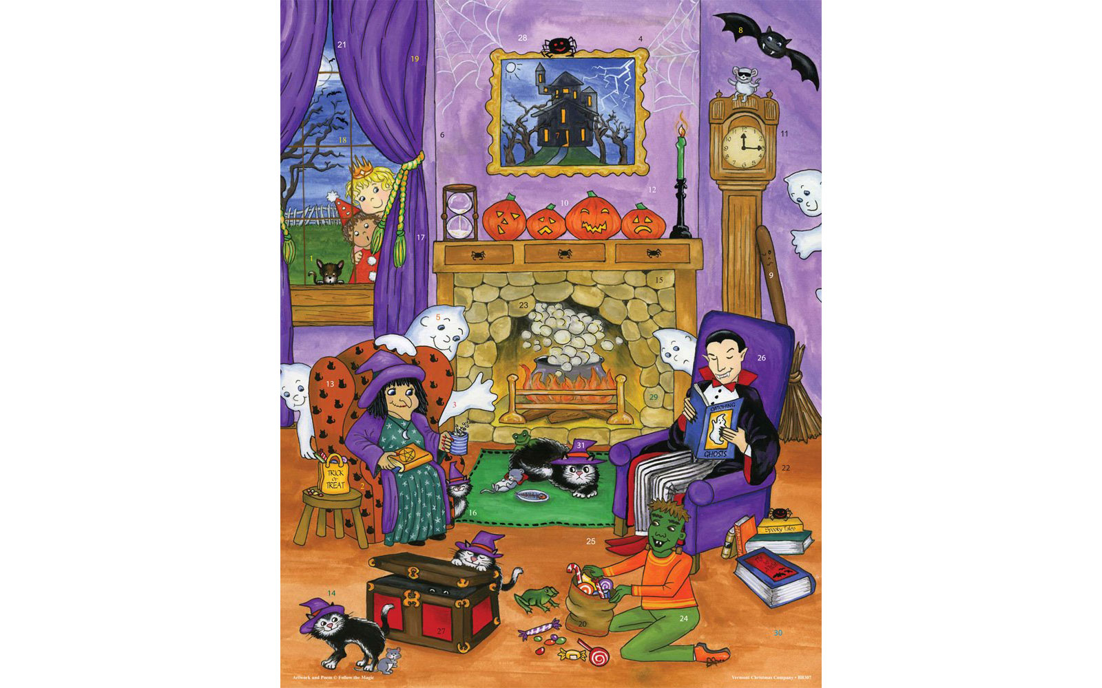 Christmas Vacation Advent House Calendar.These Halloween Advent Calendars Come With 31 Days Of Tricks