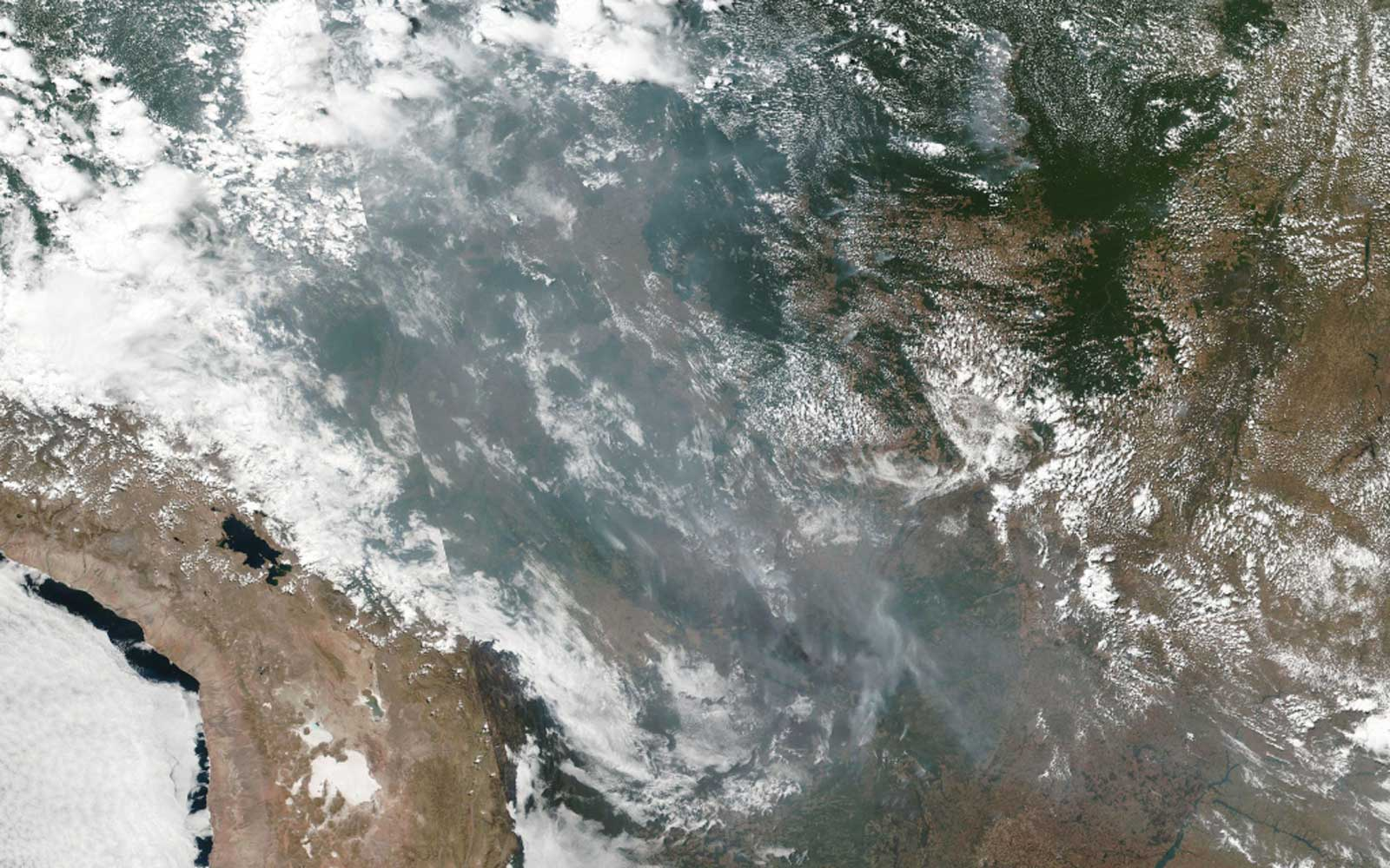 NASA Just Released Devastating Satellite Images of the Amazon Rainforest Fires From Space