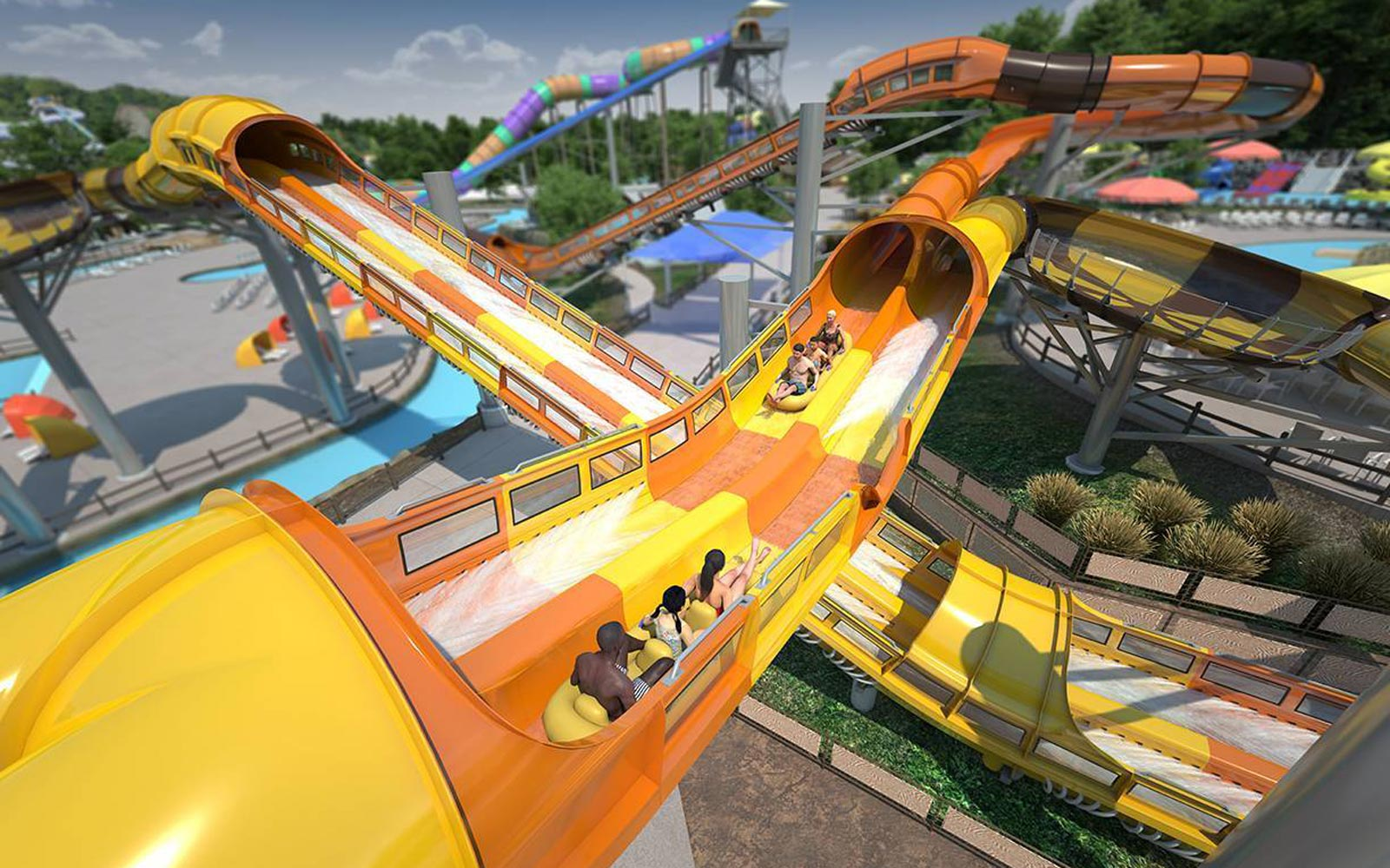 This First-of-its-kind Ride Is an Epic Roller Coaster Meets Waterslide Mashup