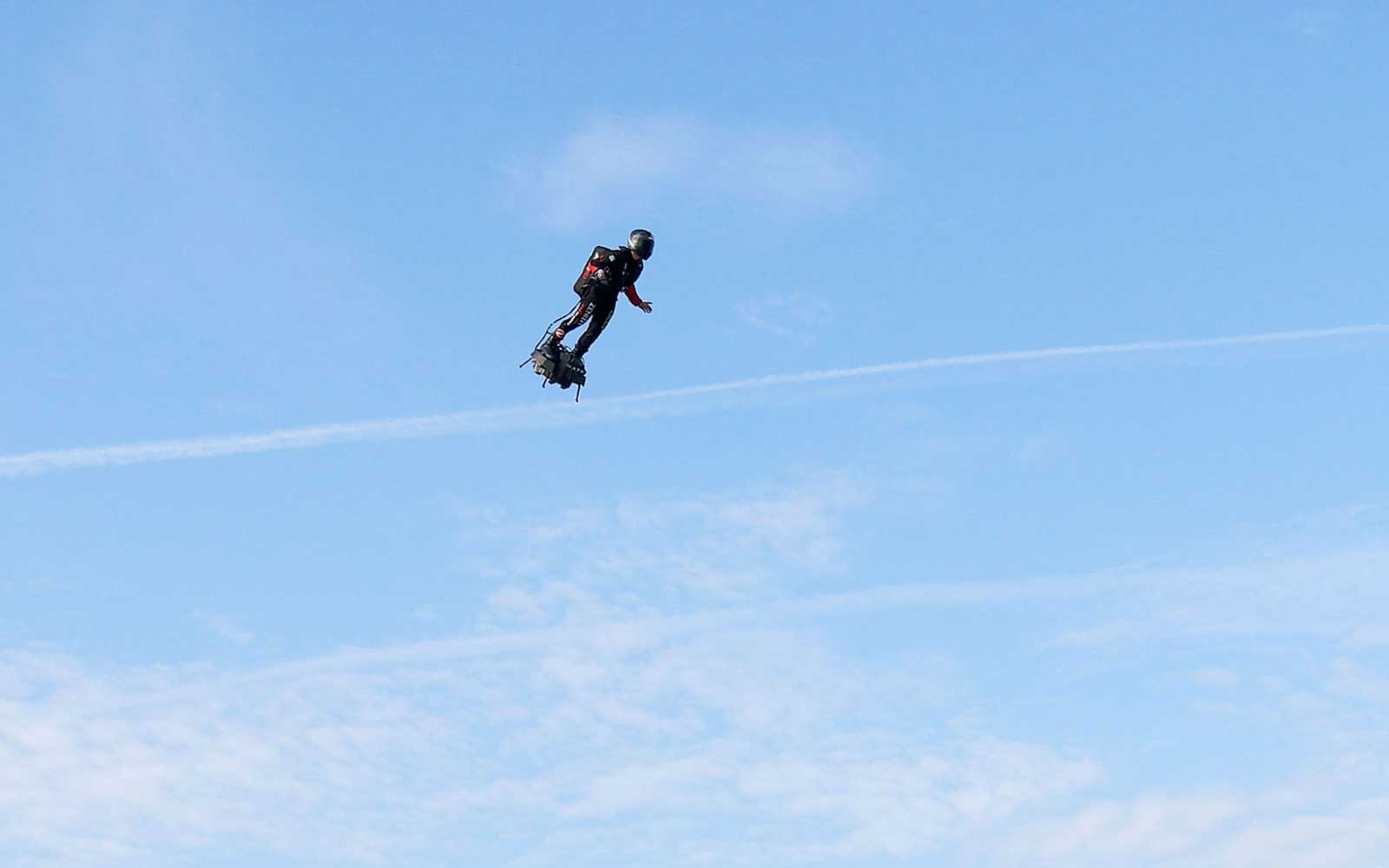 Man Successfully Rides Hoverboard 22 Miles From France to England