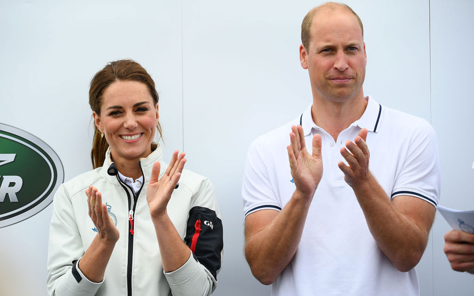 Catherine, Duchess of Cambridge and her husband Prince William, Duke of Cambridge competing on behalf of The Royal Foundation at the inaugural King's Cup regatta