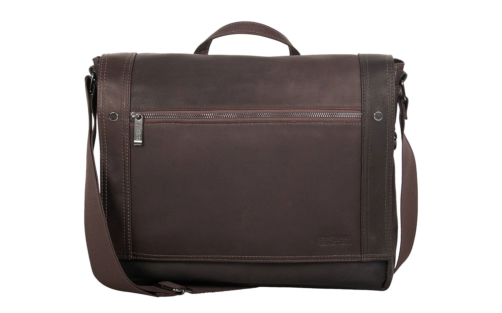 Kenneth Cole Reaction Busi-Mess Essentials Colombian Leather Messenger Bag