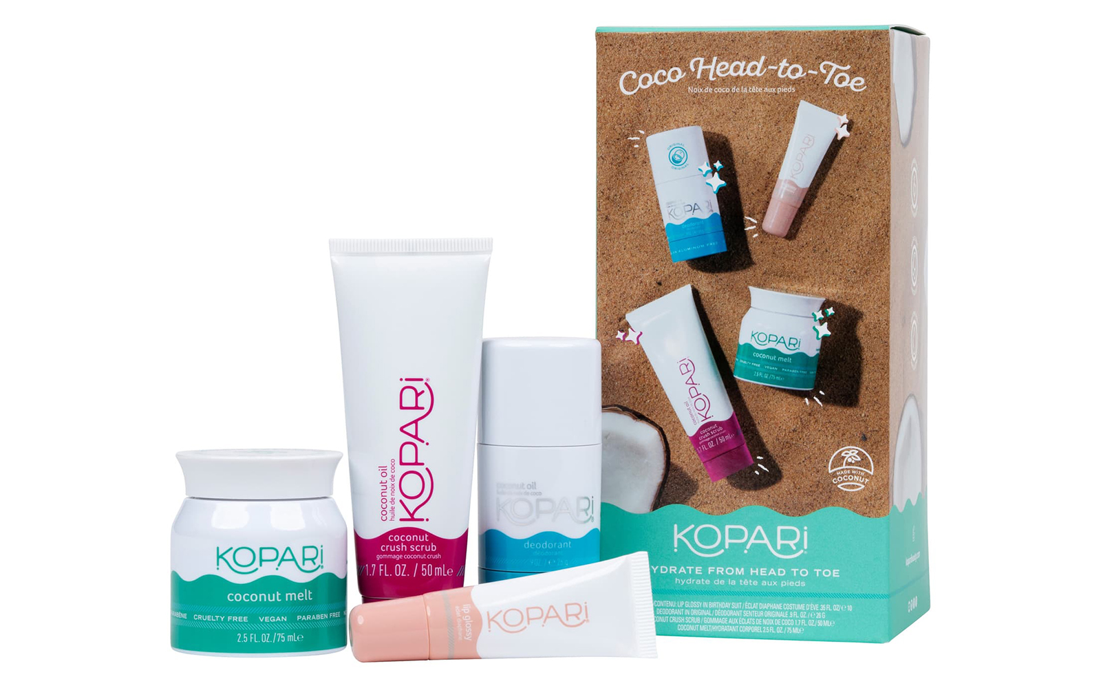 Kopari Coco Head-to-Toe Travel Size Kit
