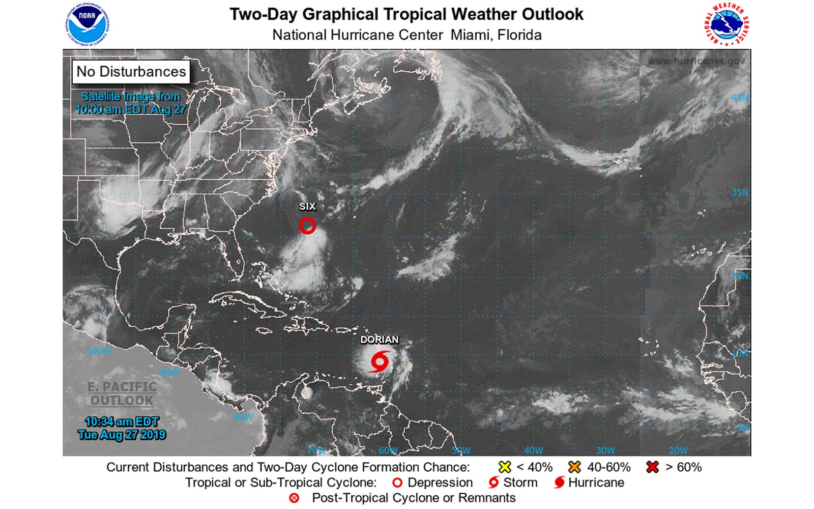 Tropical Storm Dorian: Airlines Offering Fee Waivers, Cruise