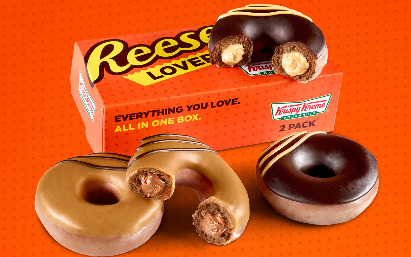 Krispy Kreme Teamed Up With Reese's to Bring You Peanut Butter Kreme-filled Doughnuts