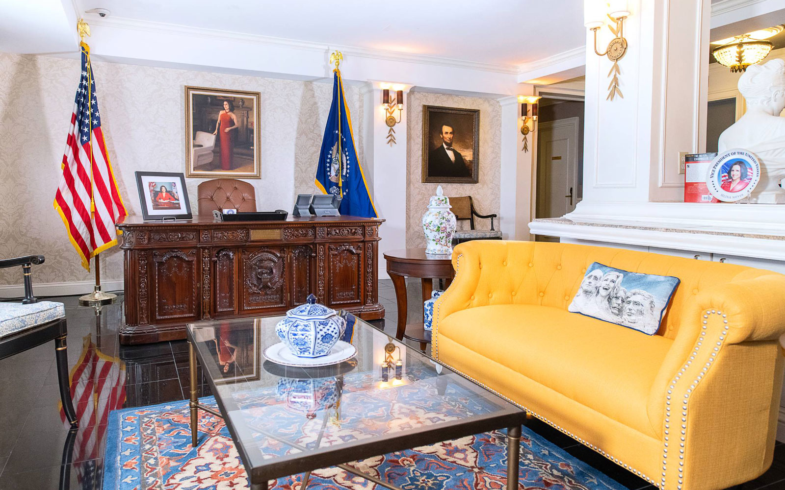 Selina Meyer's Oval Office at the Hamilton Hotel