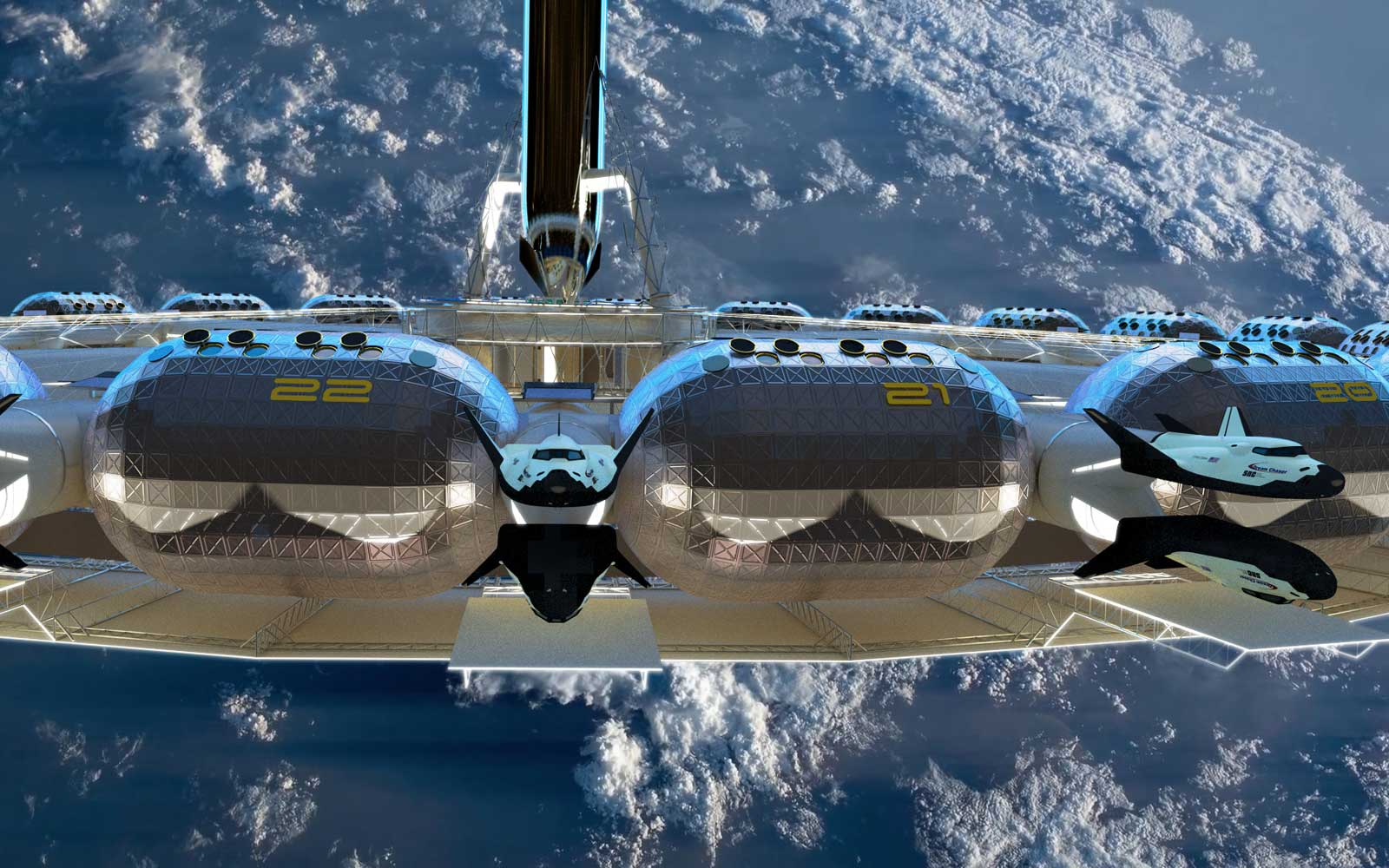 Von Braun Space Station Hotel
