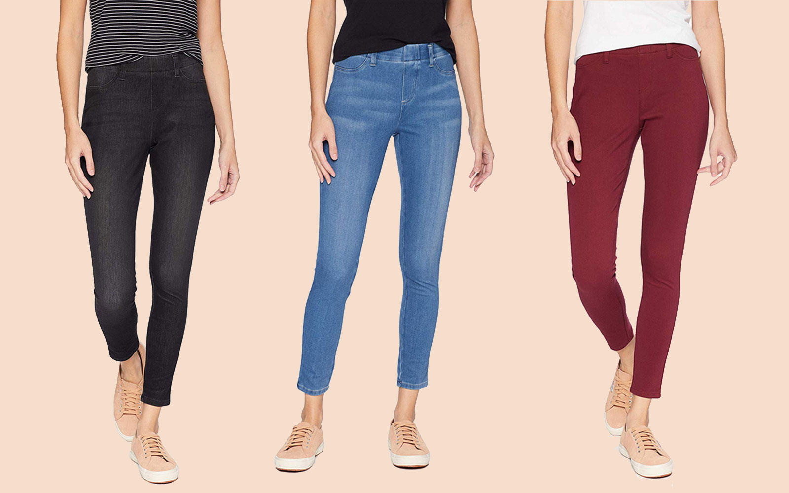 Amazon Essentials Skinny Stretch Pull-On Knit Jegging Lead