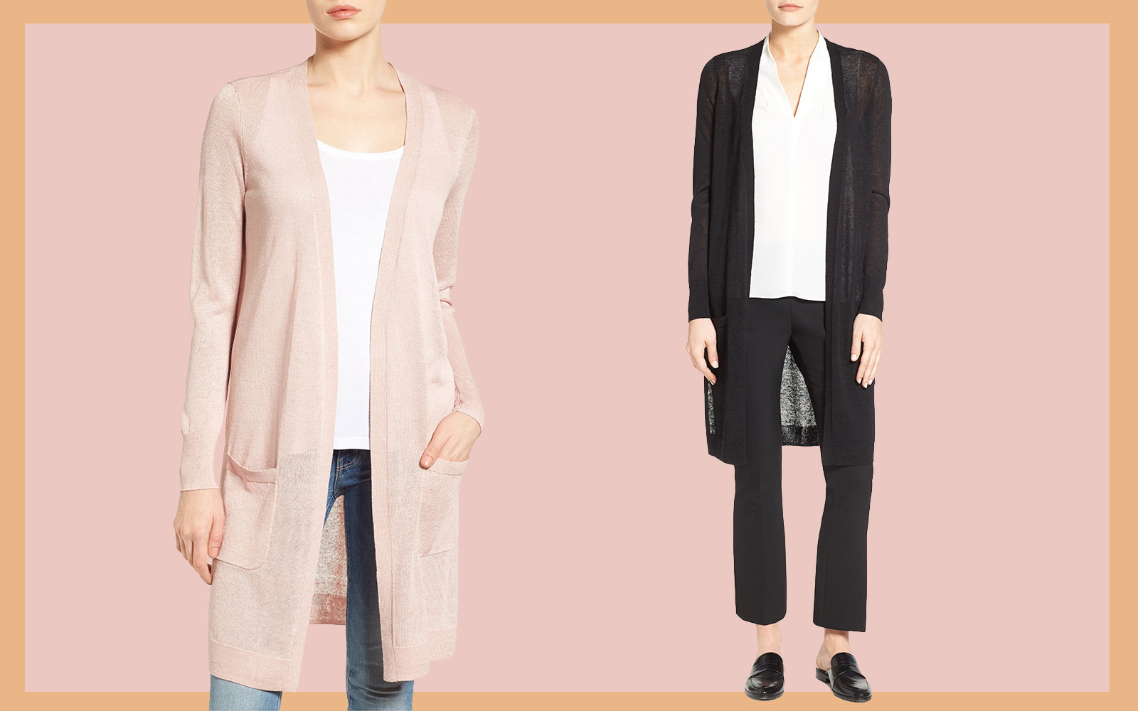 Nordstrom Shoppers Love Halogen's Long Linen Blend Cardigan