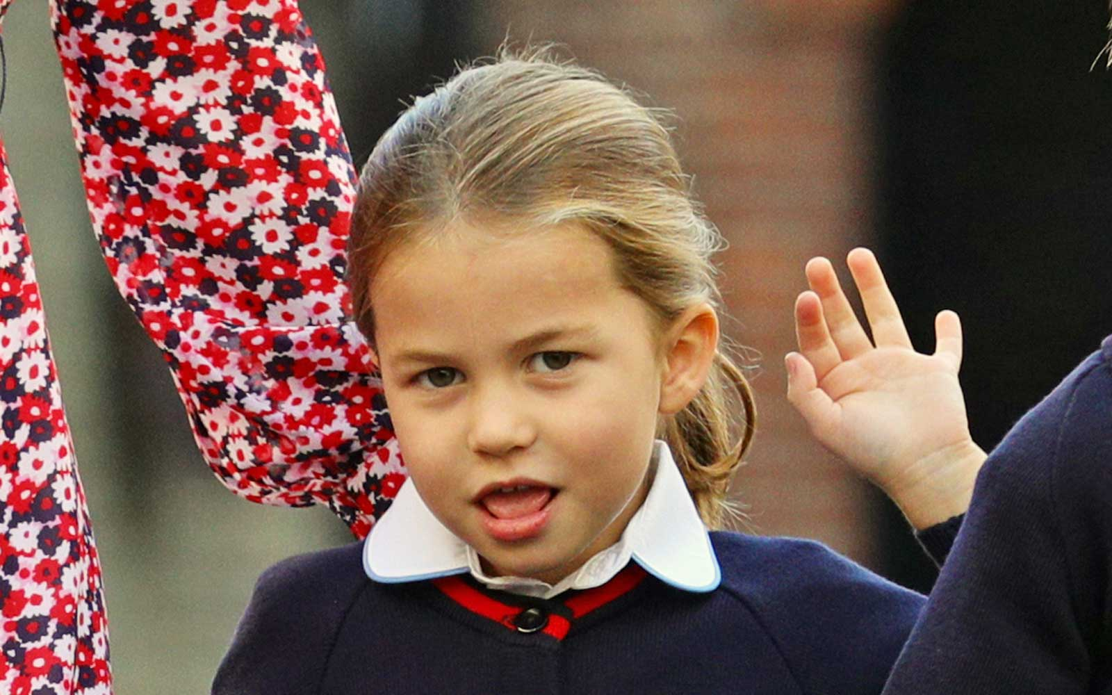 Princess Charlotte and Prince George Arrive for Their First Day of School in Adorable Video