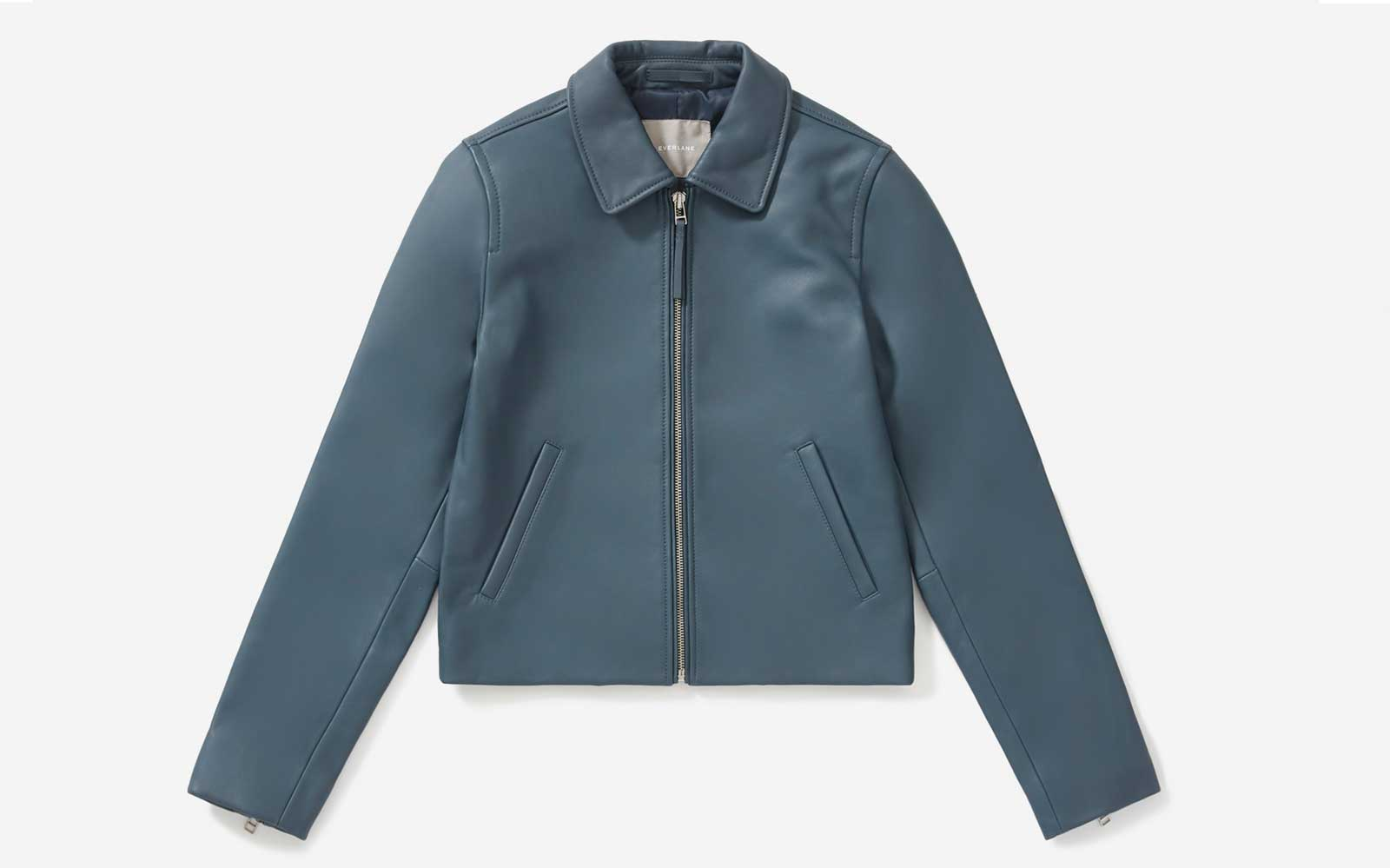 Everlane just released its first leather jacket — and it's a wardrobe staple
