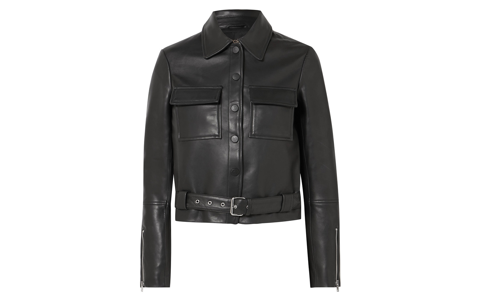 Maje Lizalia Leather Jacket