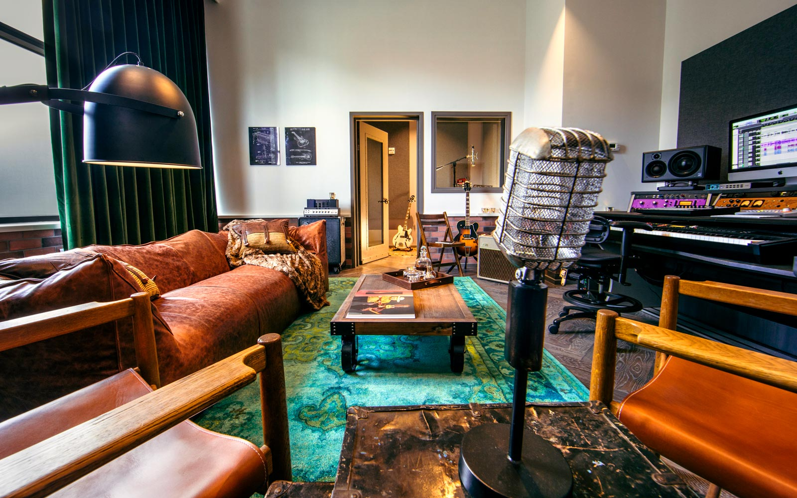 These hotels are catering to musicians with loaner guitars and recording studios