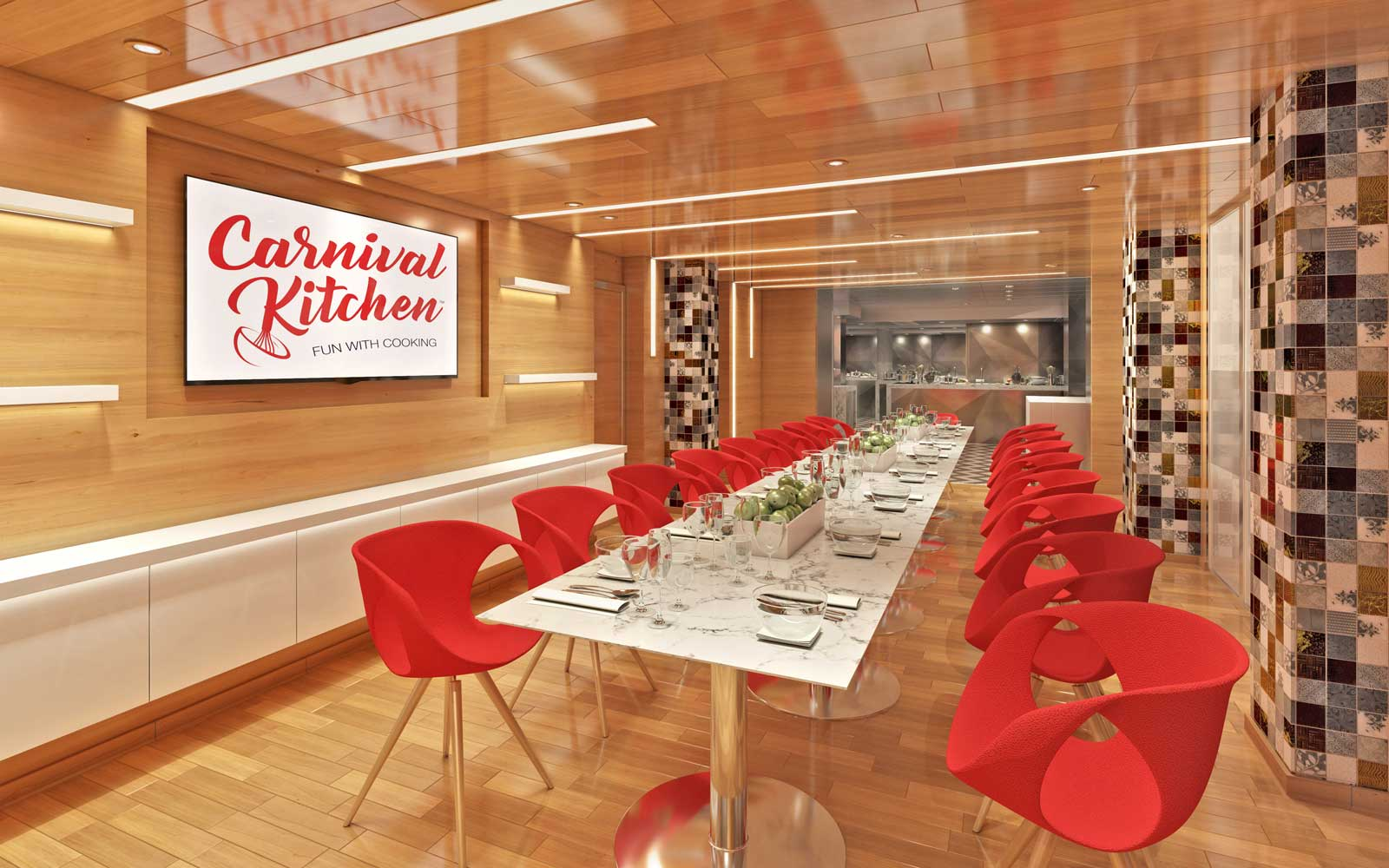 Carnival Kitchen dining room