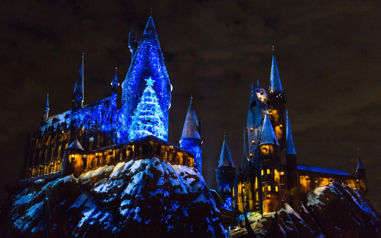 Hogwarts Castle at Christmas