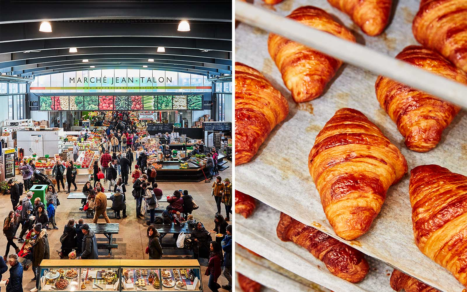 Market and croissants in Montreal, Canada