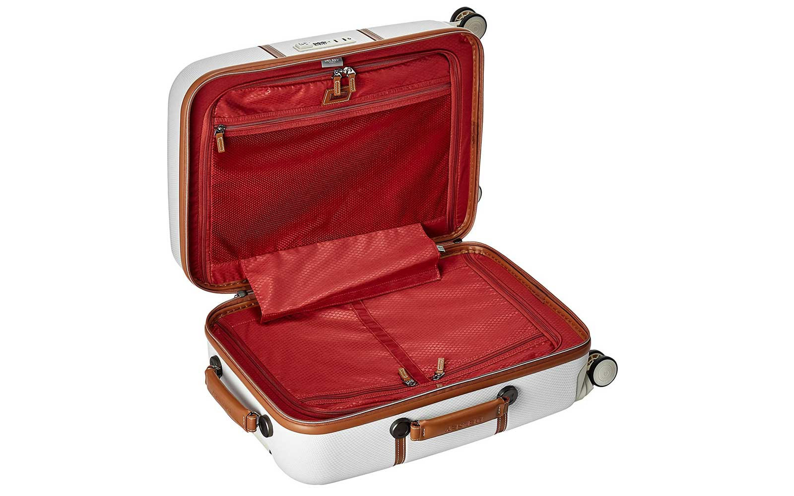White Hardside Suitcase Interior