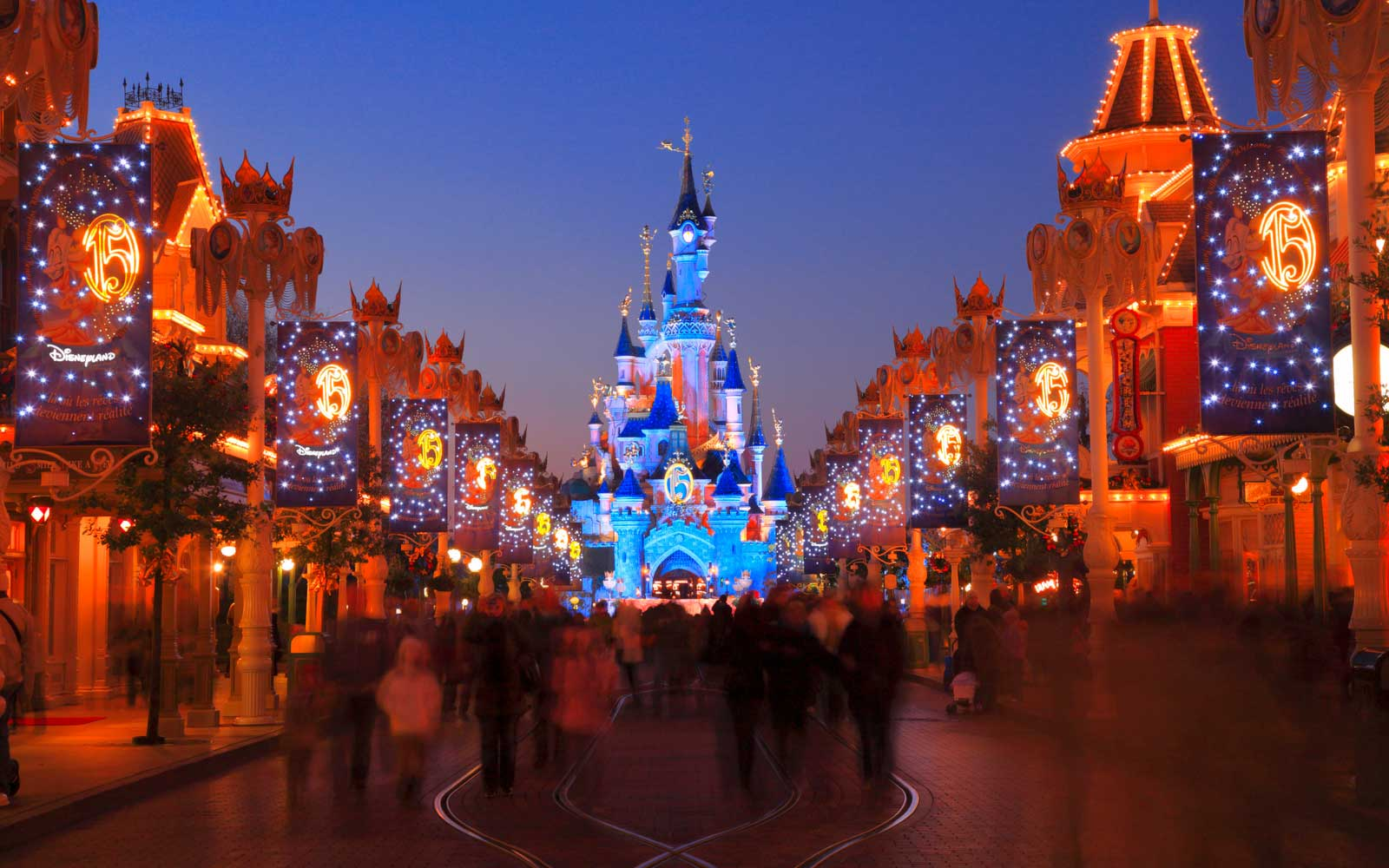 Paris Disney at Christmas time