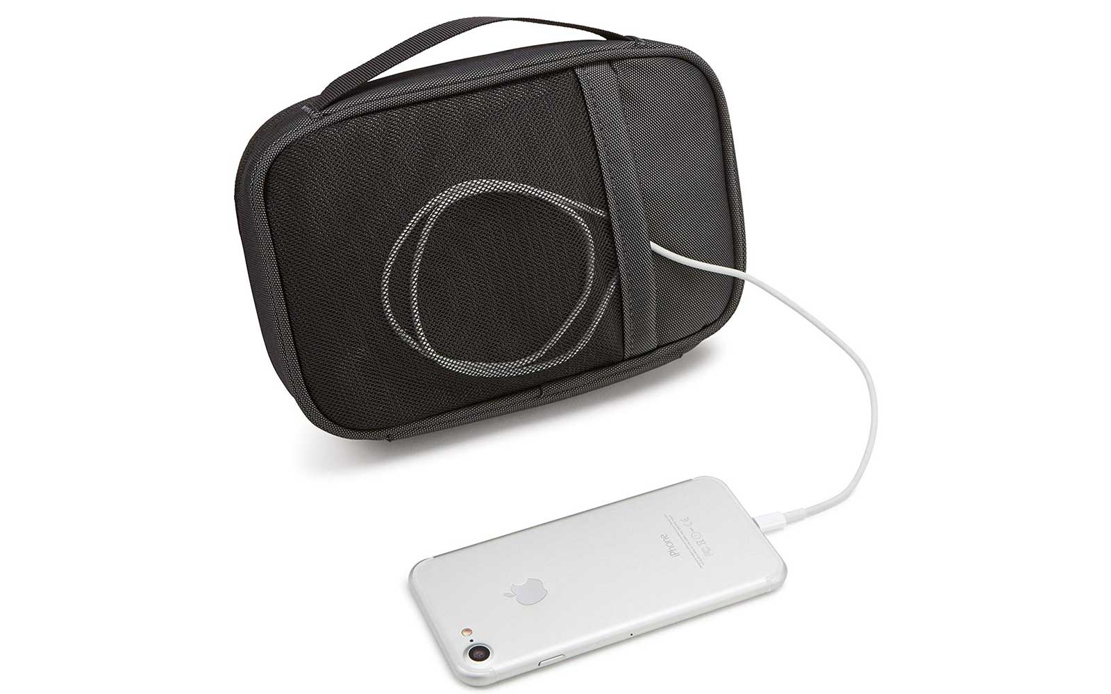 This travel case makes charging your devices on-the-go a breeze