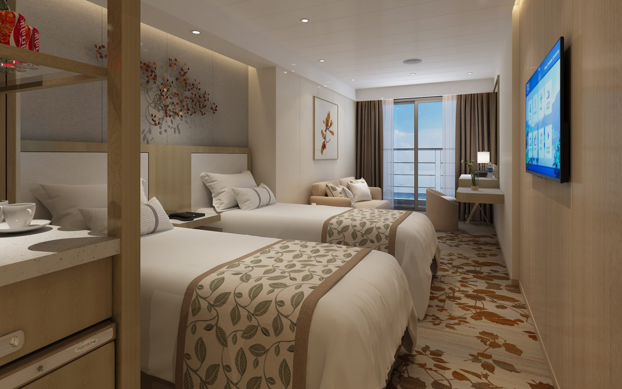 Rendering of the Victoria Sabrina double bedroom