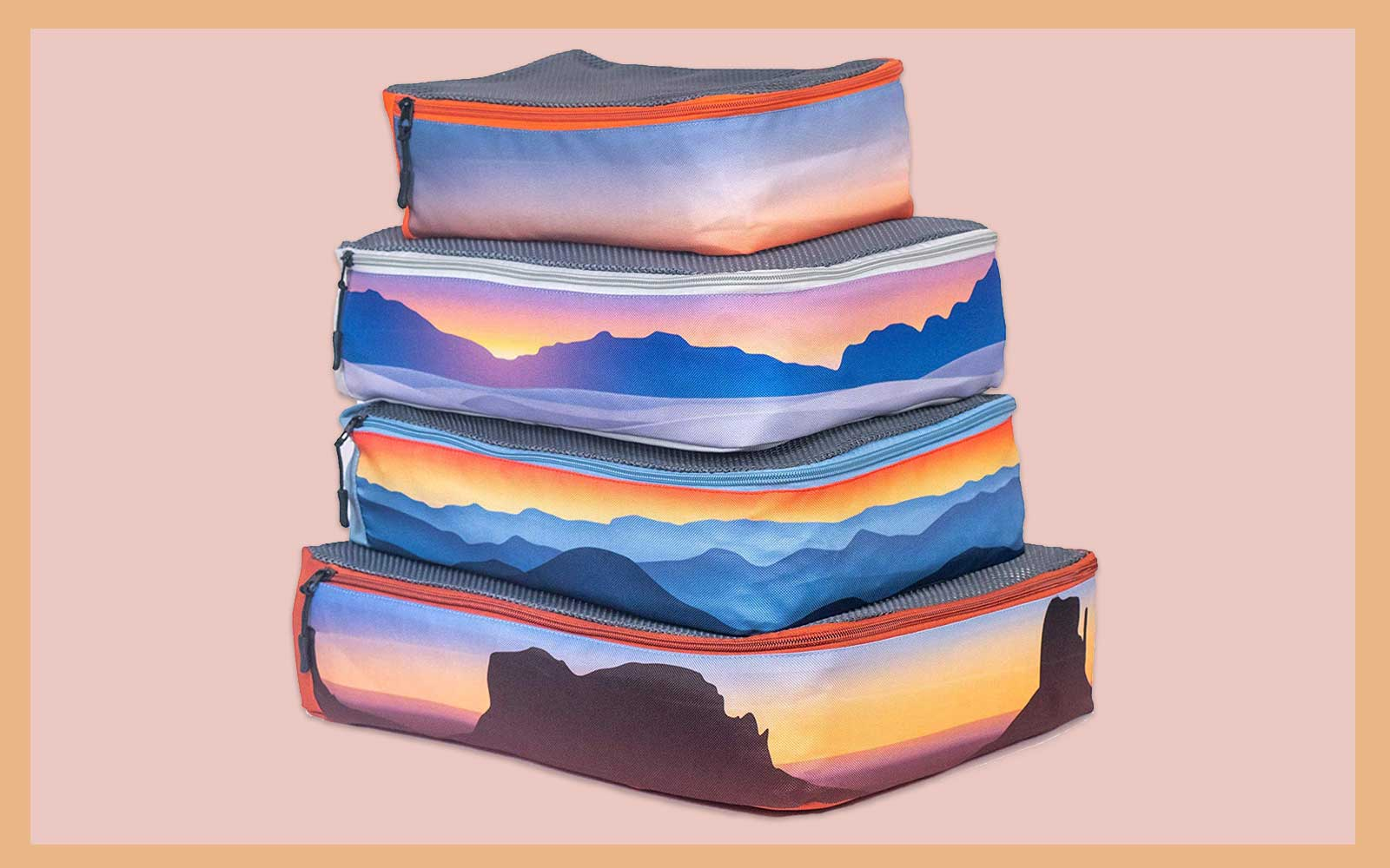 Printed National Parks-themed Packing Cubes