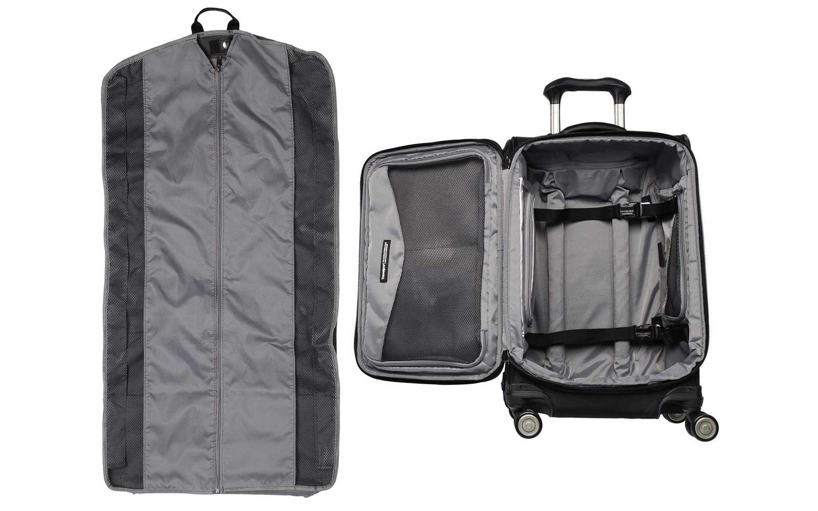 Black Travelpro Suitcase Interior