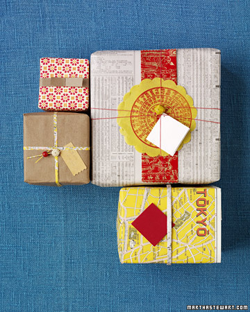Environmentally friendly gift wrap