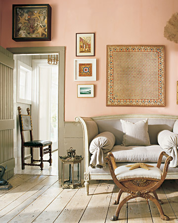 Pink And Gray in a Colonial Home