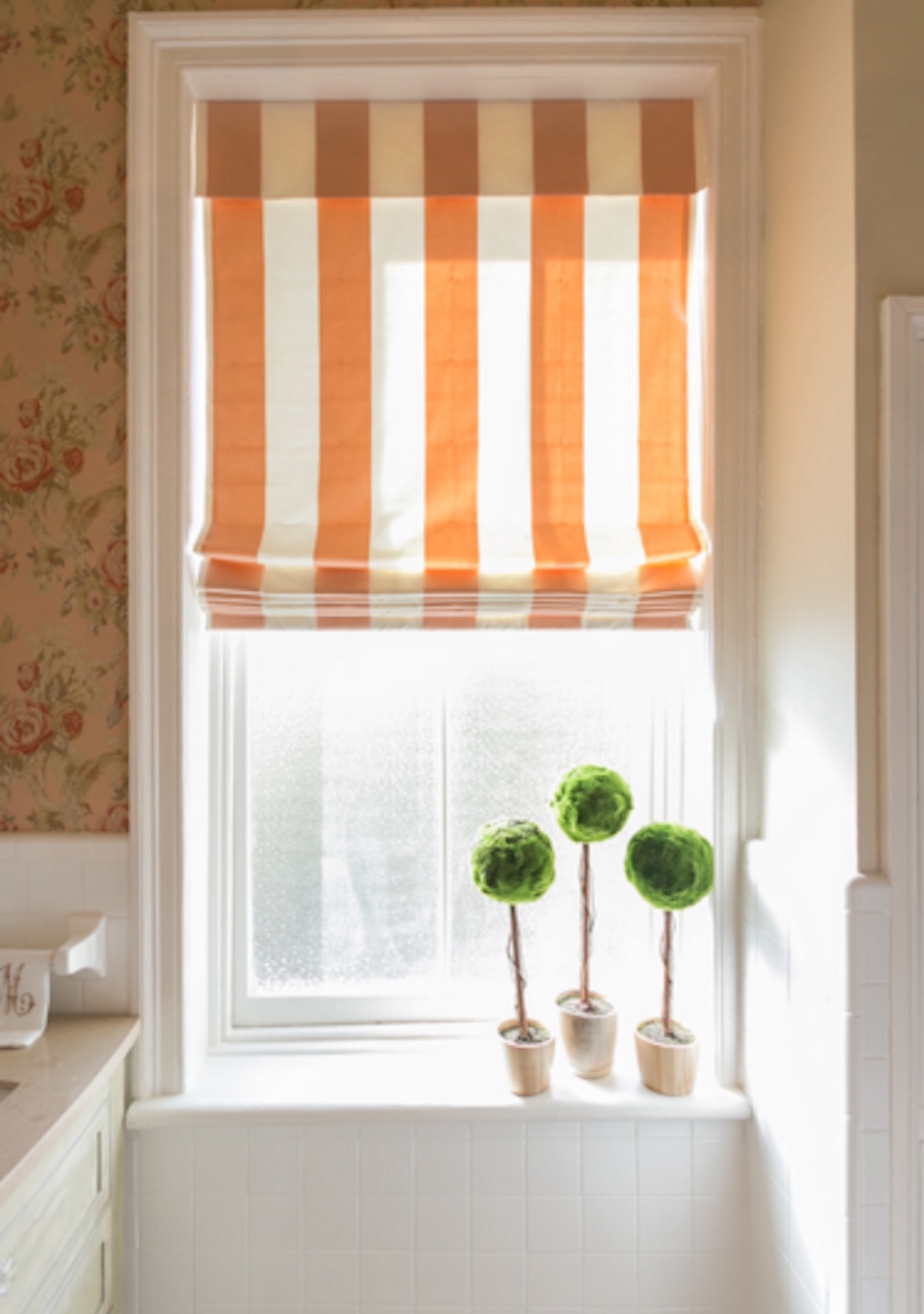 Unique Bathroom Window Treatments 11