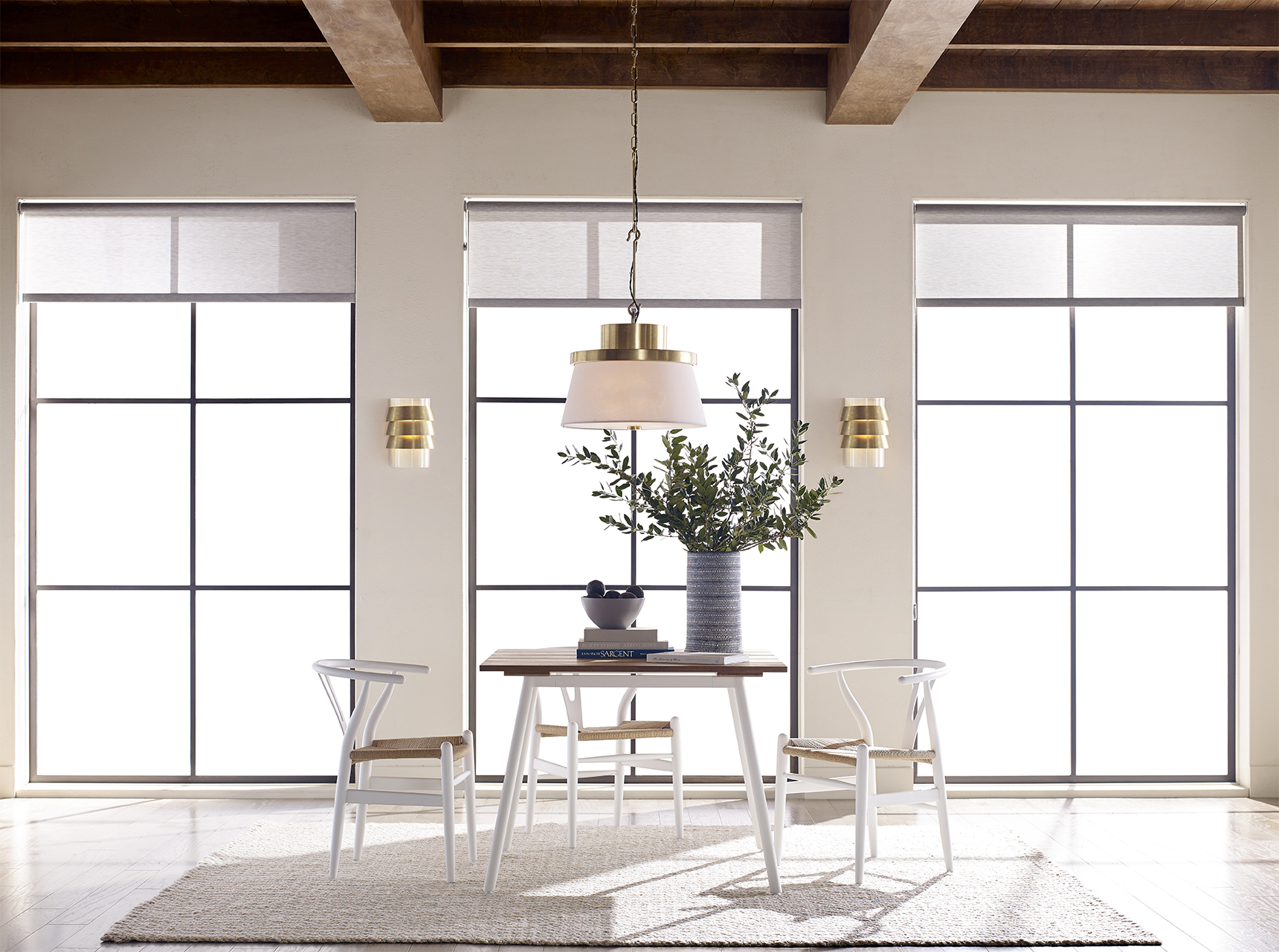 home dining space window lighting