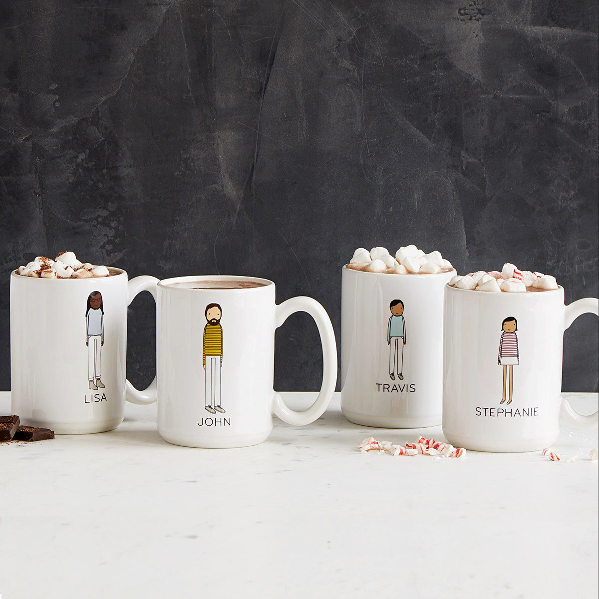 Uncommon Goods Personalized Family Mugs