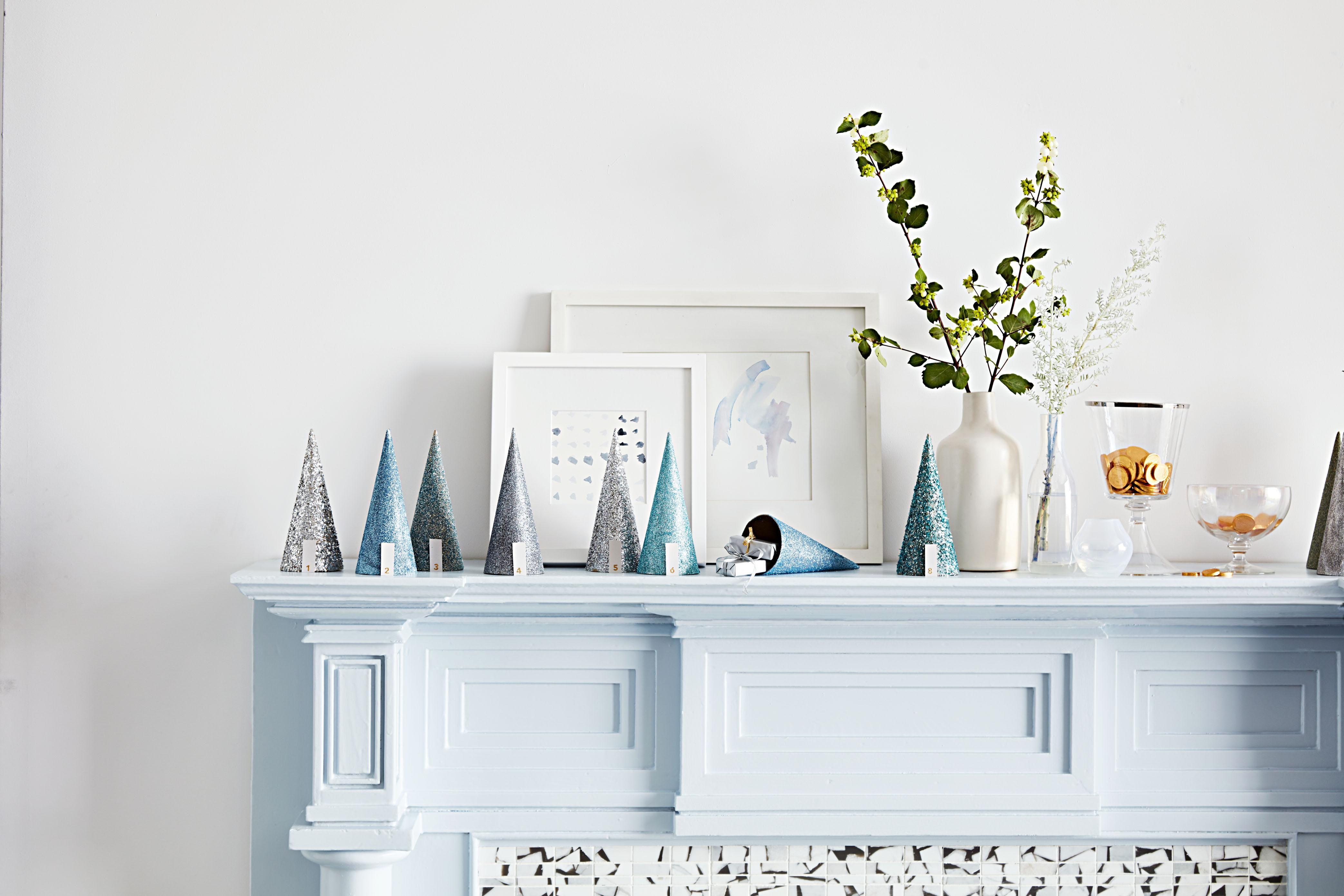 glittered cone advent calendar