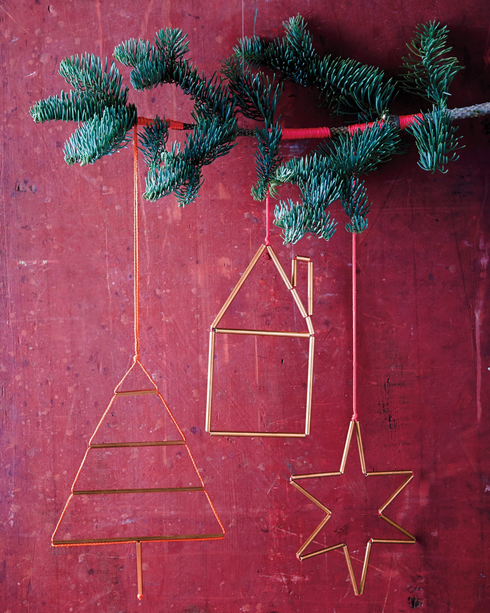 brass metal hardware Christmas ornaments