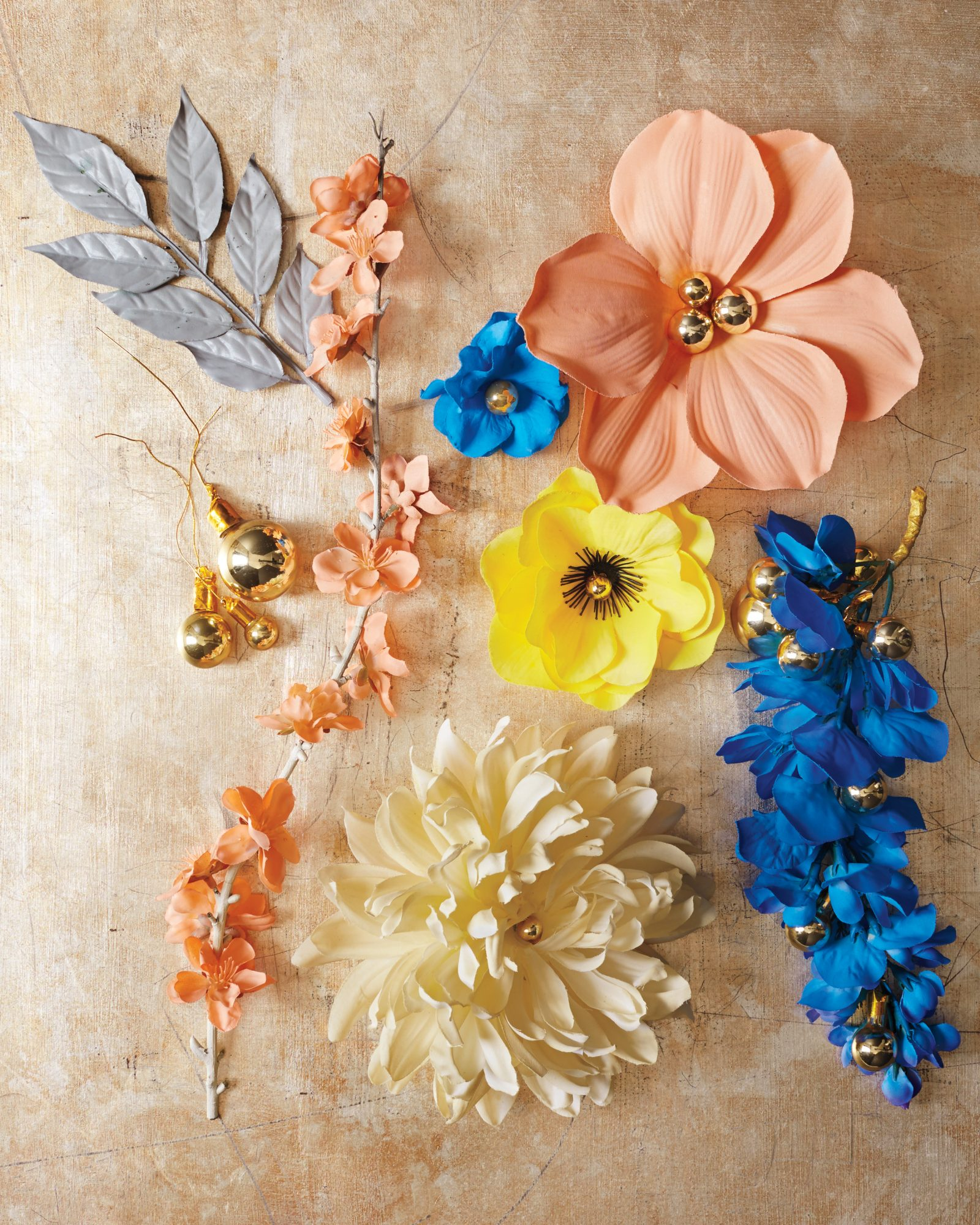 silk flower Christmas ornaments