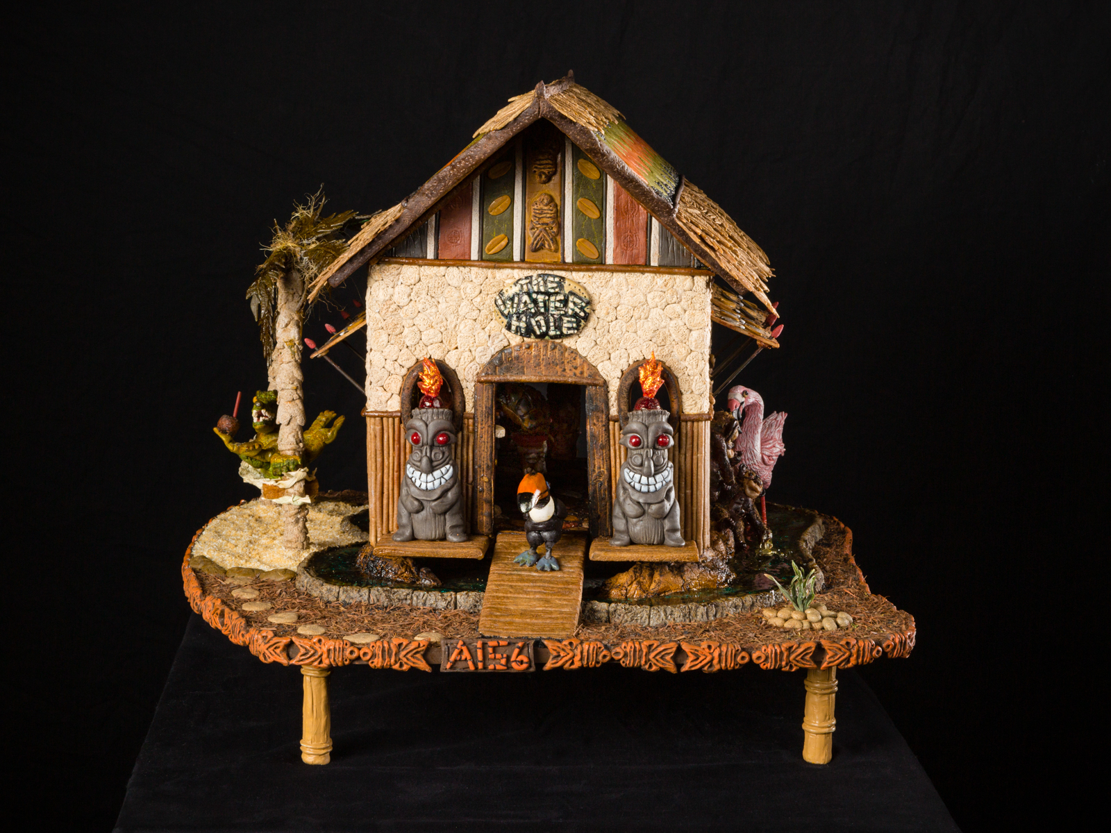 Tiki hunt National Gingerbread House Competition entry