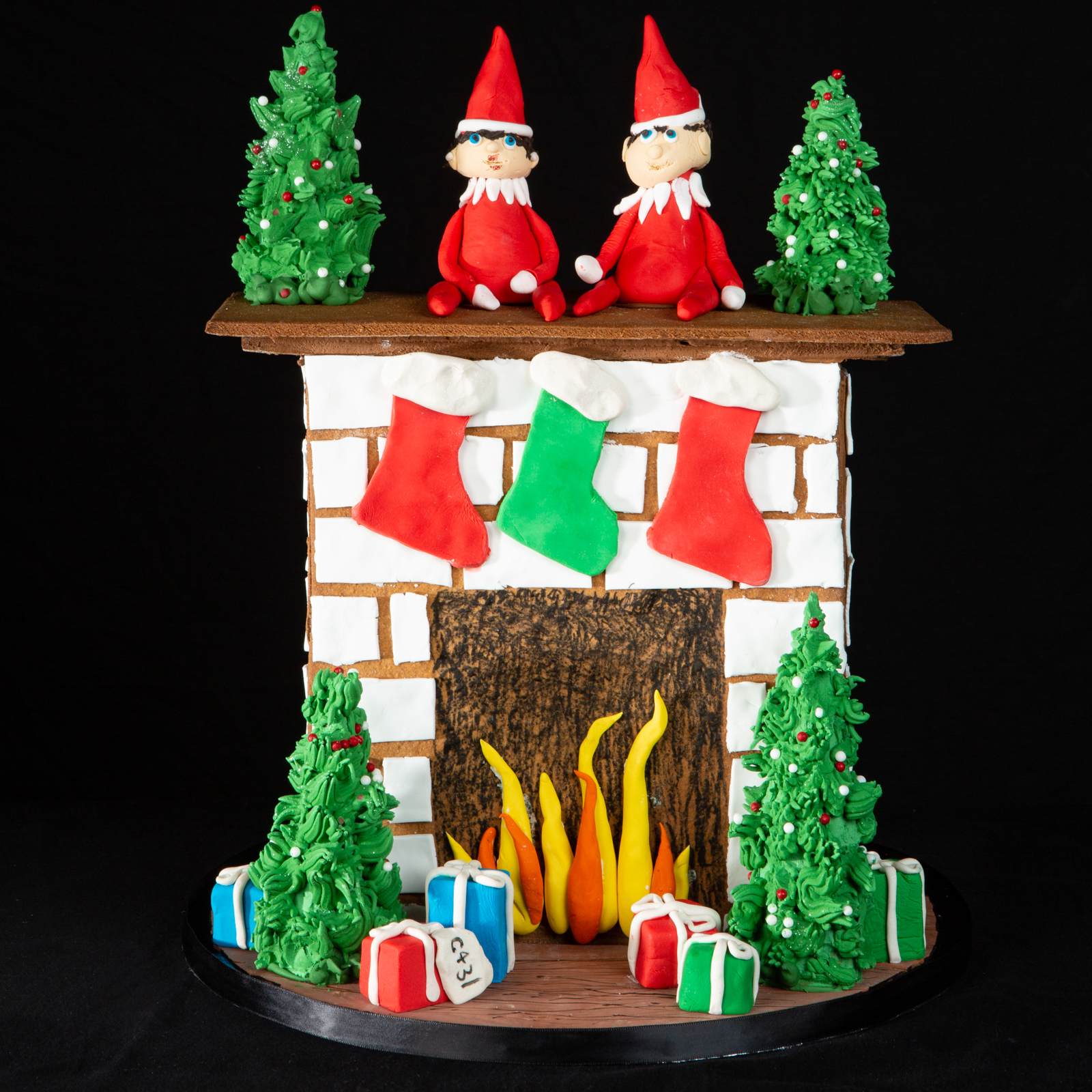 Elf on the shelf National Gingerbread House Competition entry