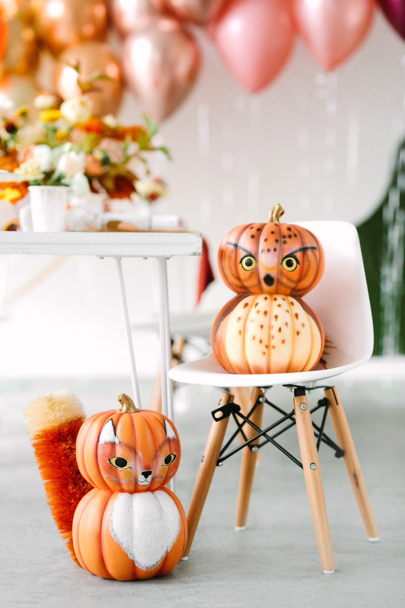 woodland animal pumpkins