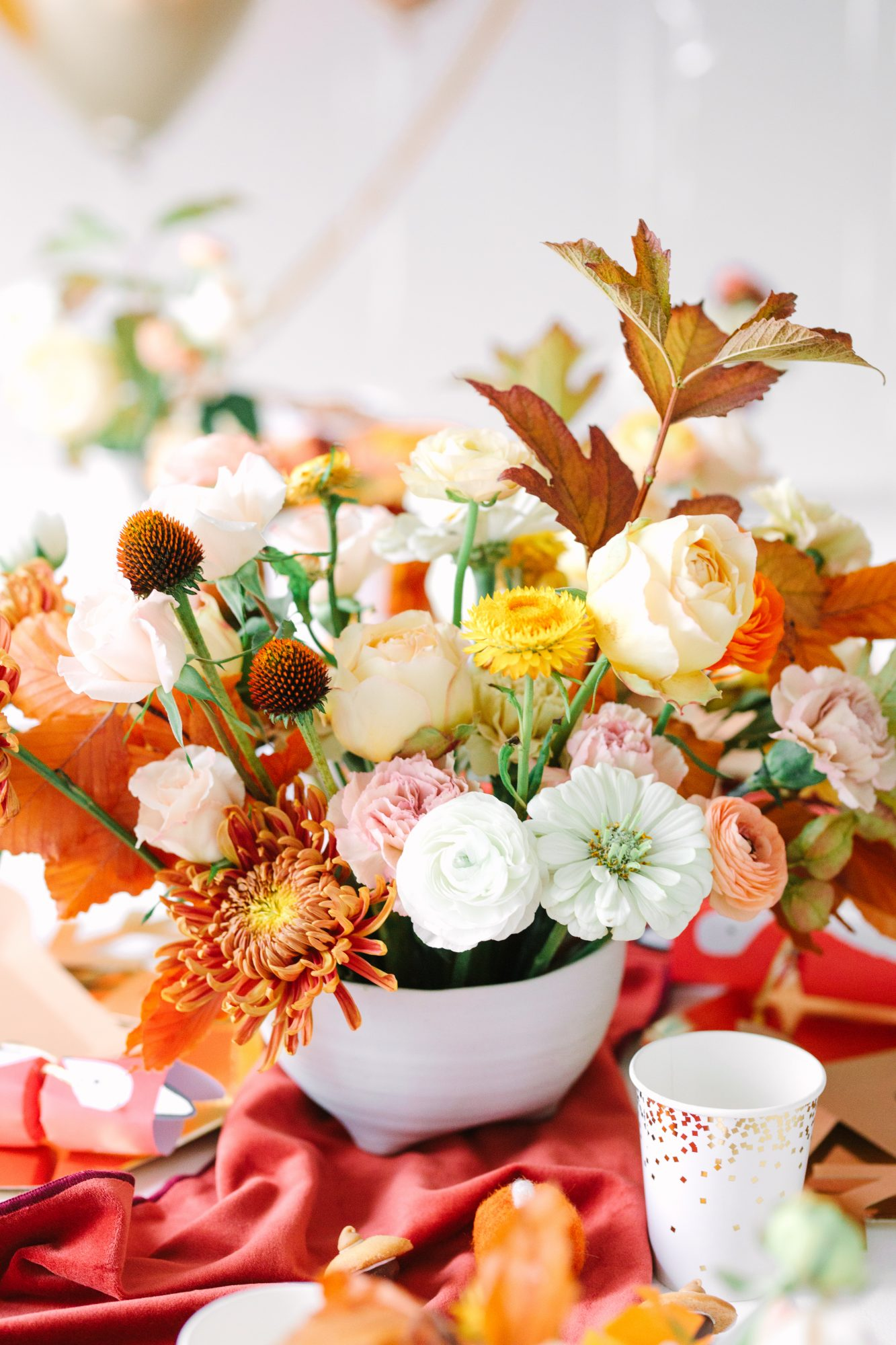 autumnal floral arrangements