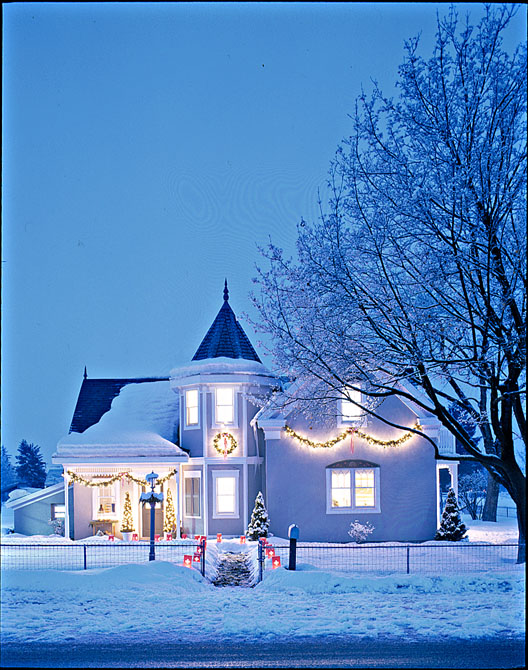 Home with Winter Lights