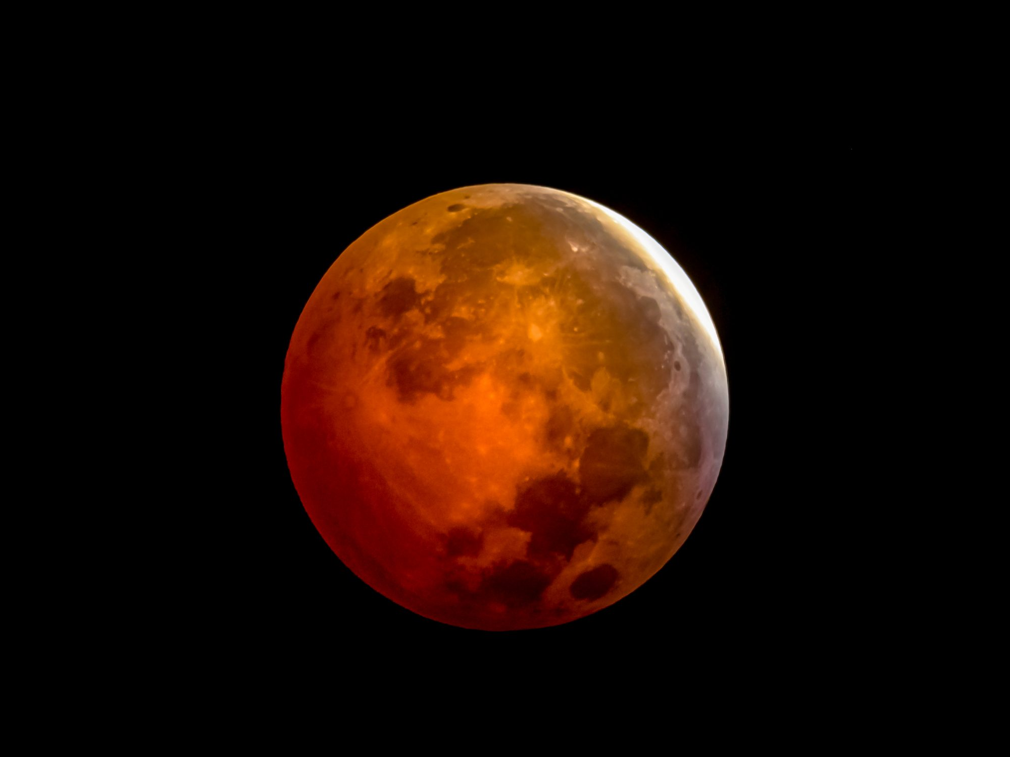 What time is the lunar eclipse tomorrow