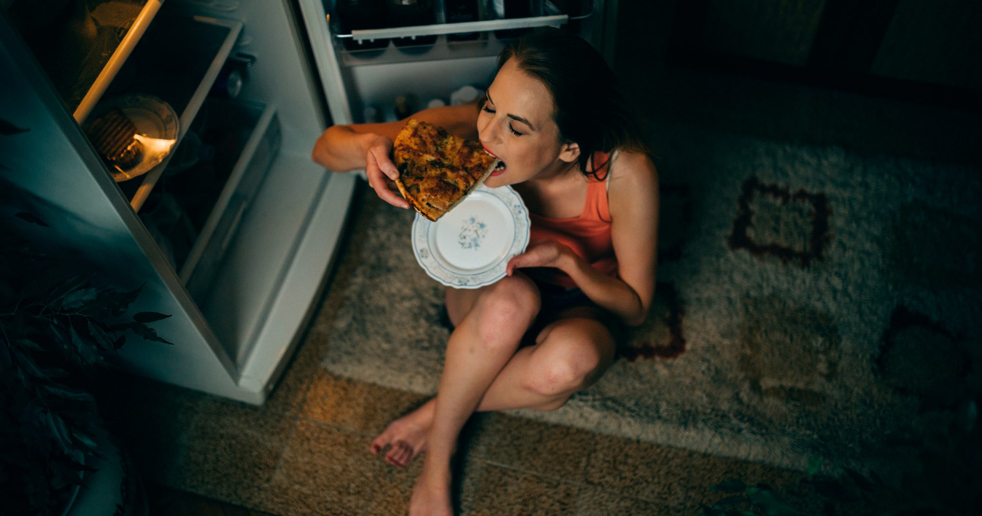 An example of a binge eating episode