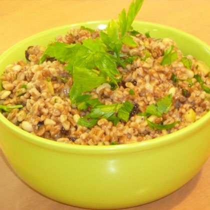Wheat Berries with Pine Nuts