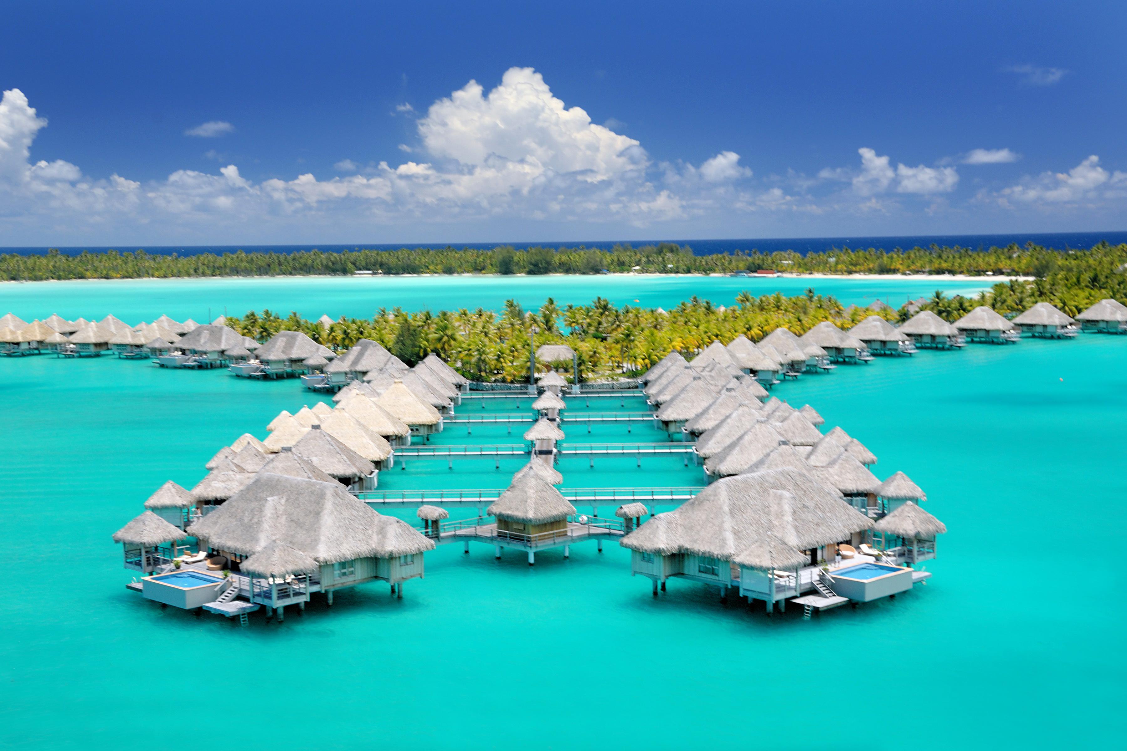 best beach honeymoons st regis bora bora