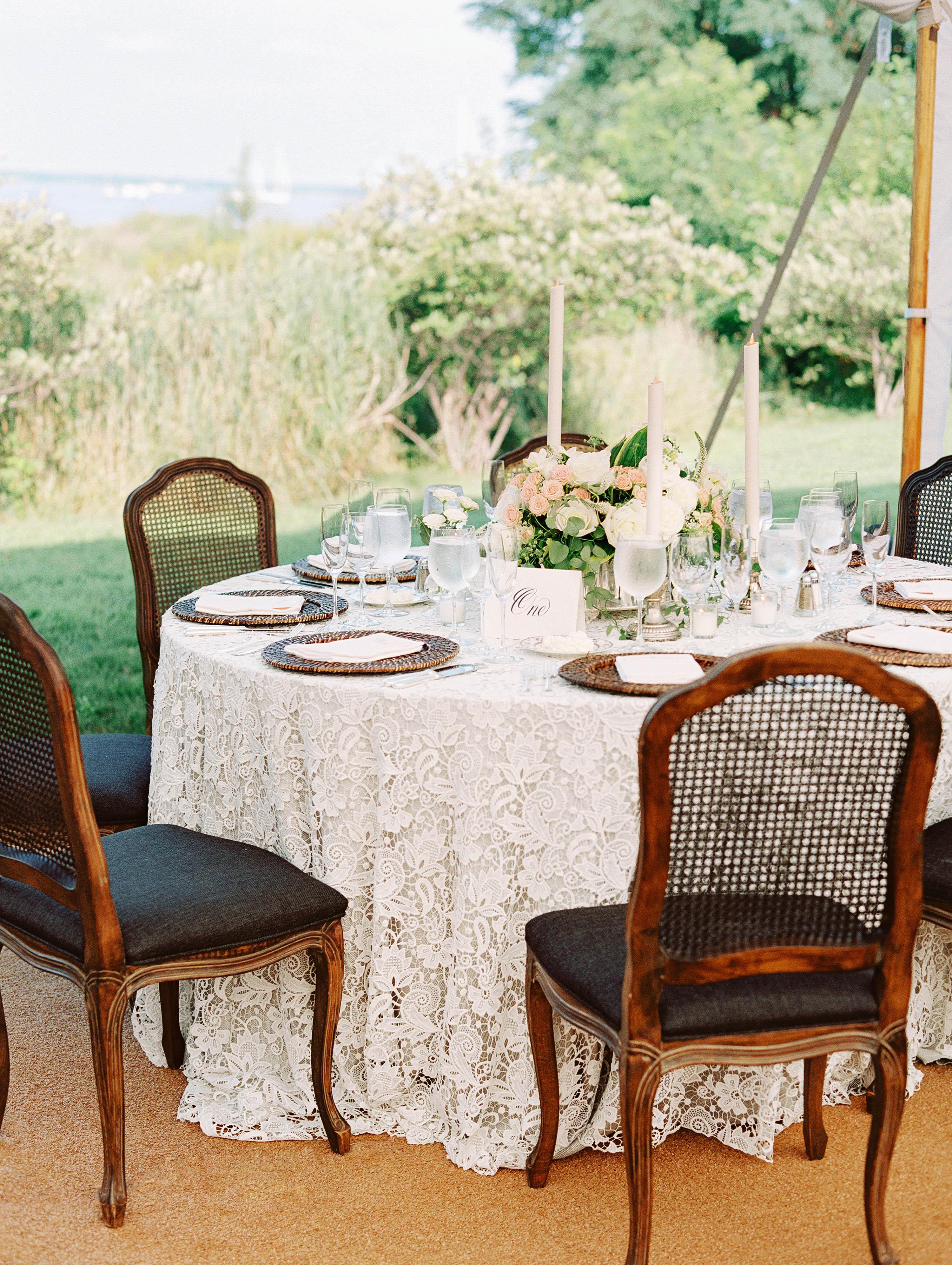stephanie philip wedding maryland reception table