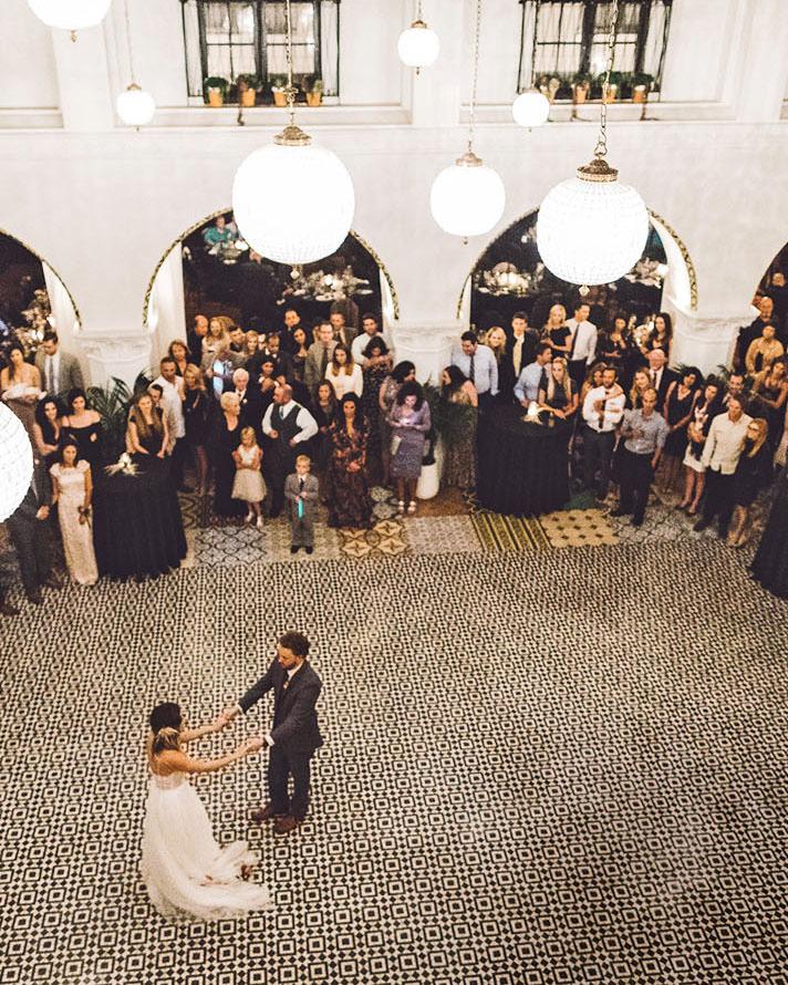 lori john wedding california dancing