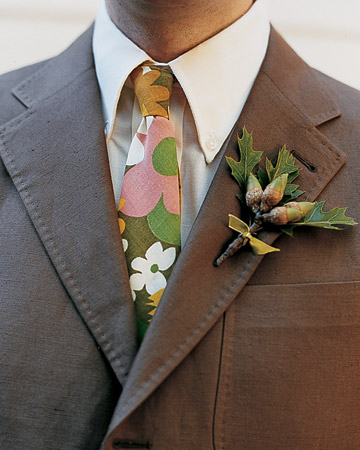Tie and Boutonniere