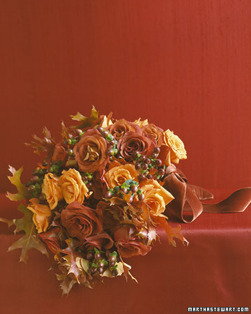 Bouquet with Fall Roses