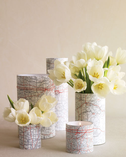 Map-Covered Vases