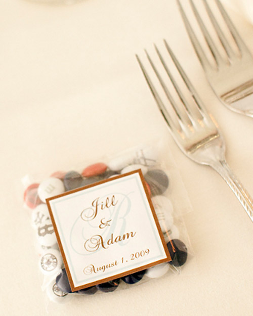 Personalized M&Ms Wedding Favors