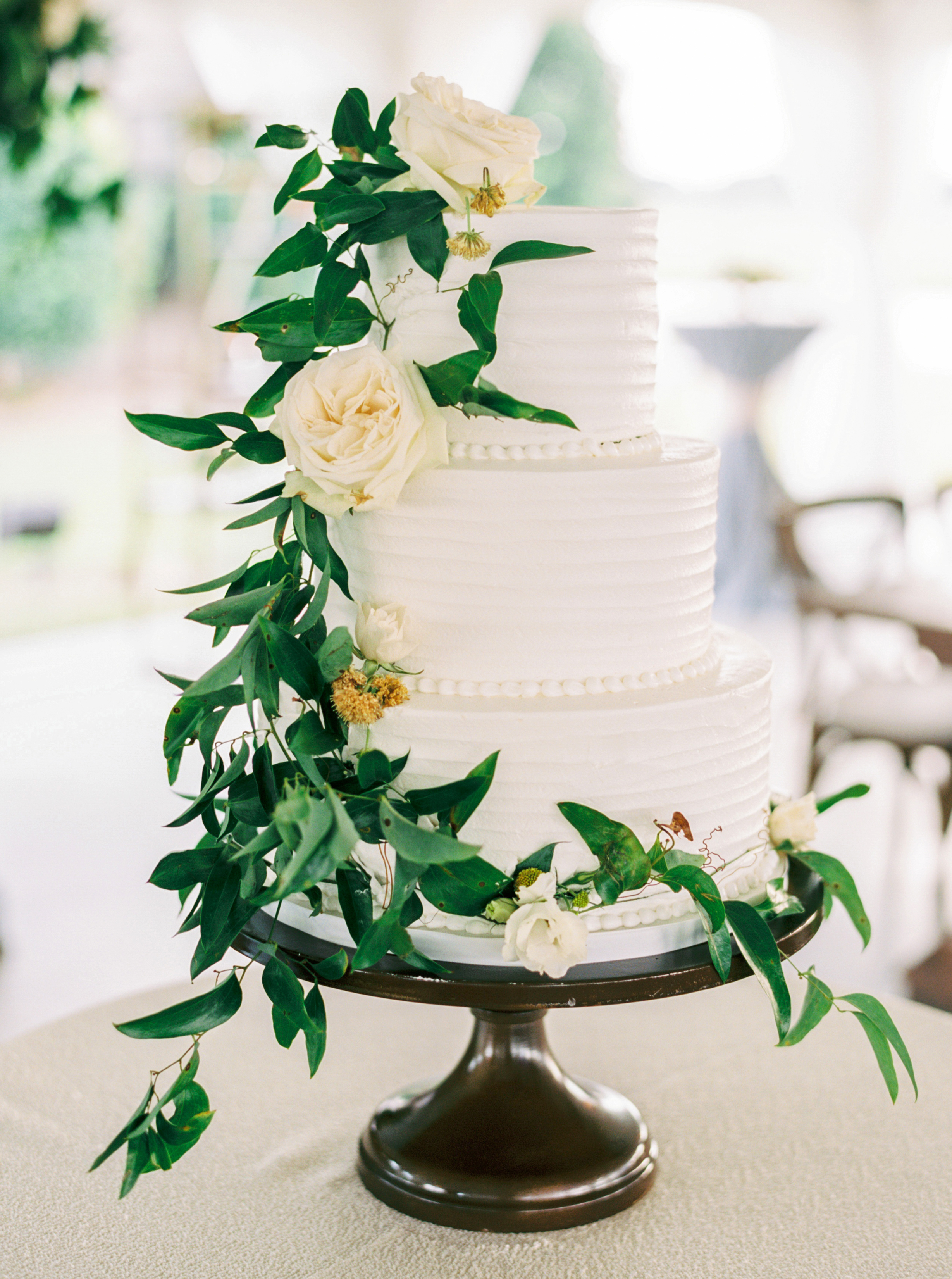 floral wedding cakes classic cascading greenery